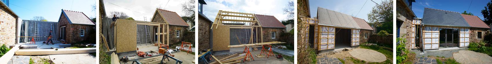 Extension d'une maison en ossature bois à Paimpol